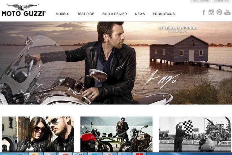 All-new Moto Guzzi website