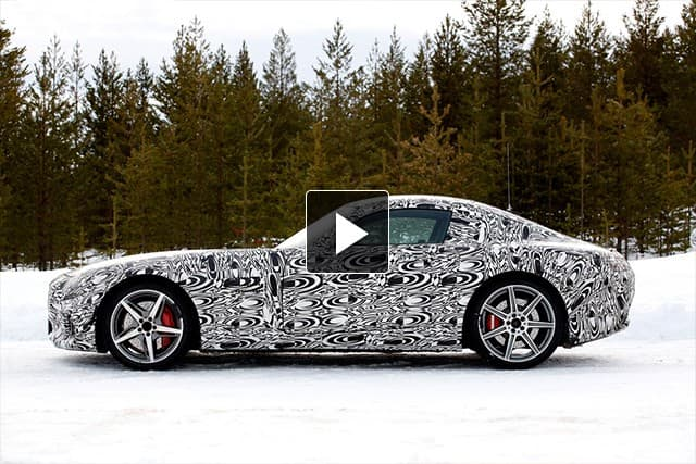 Testing of the new Mercedes-AMG GT