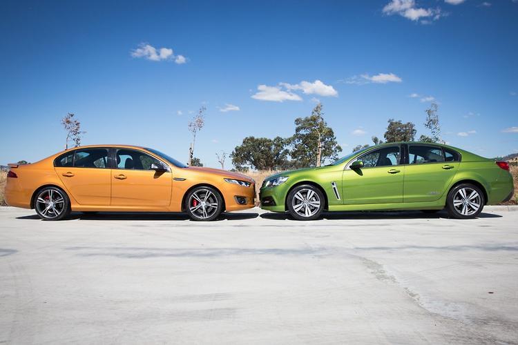 Luxury Ford Falcon XR8 V Holden Commodore SS 2014 Comparison