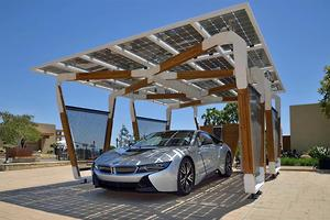 BMW solar home charging solution at CES