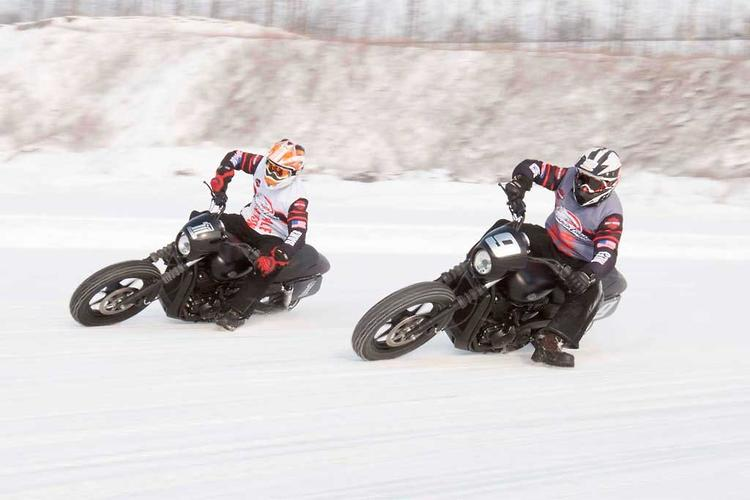 Street 750 goes ice racing!